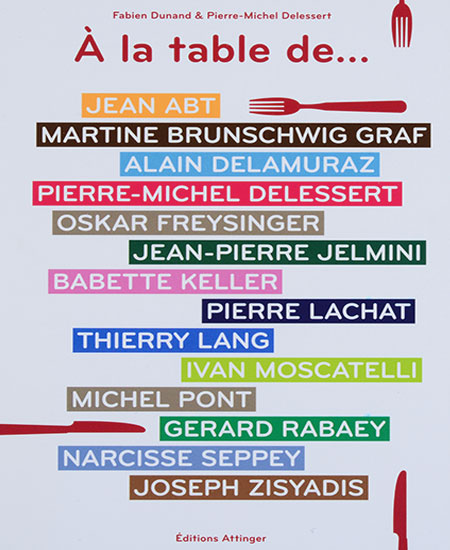 Fabien Dunand & Pierre-Michel Delessert - A la table de...